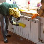 Как помыть батарею отопления