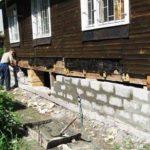 Как восстановить фундамент дома