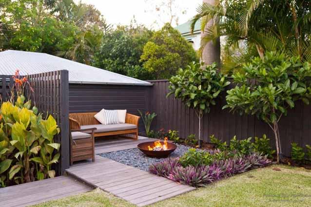 Дизайн двора частного дома (60 фото создаем красивый) 20